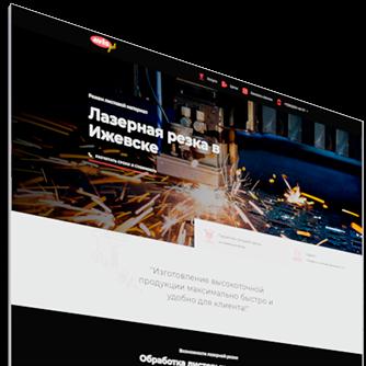 дизайн сайта по лазерной резке